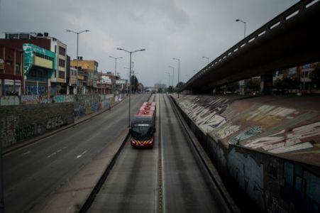 Primer día de aislamiento en Bogotá