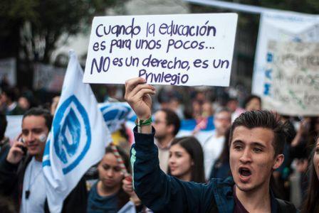 Protesta Estudiantil Bogota3