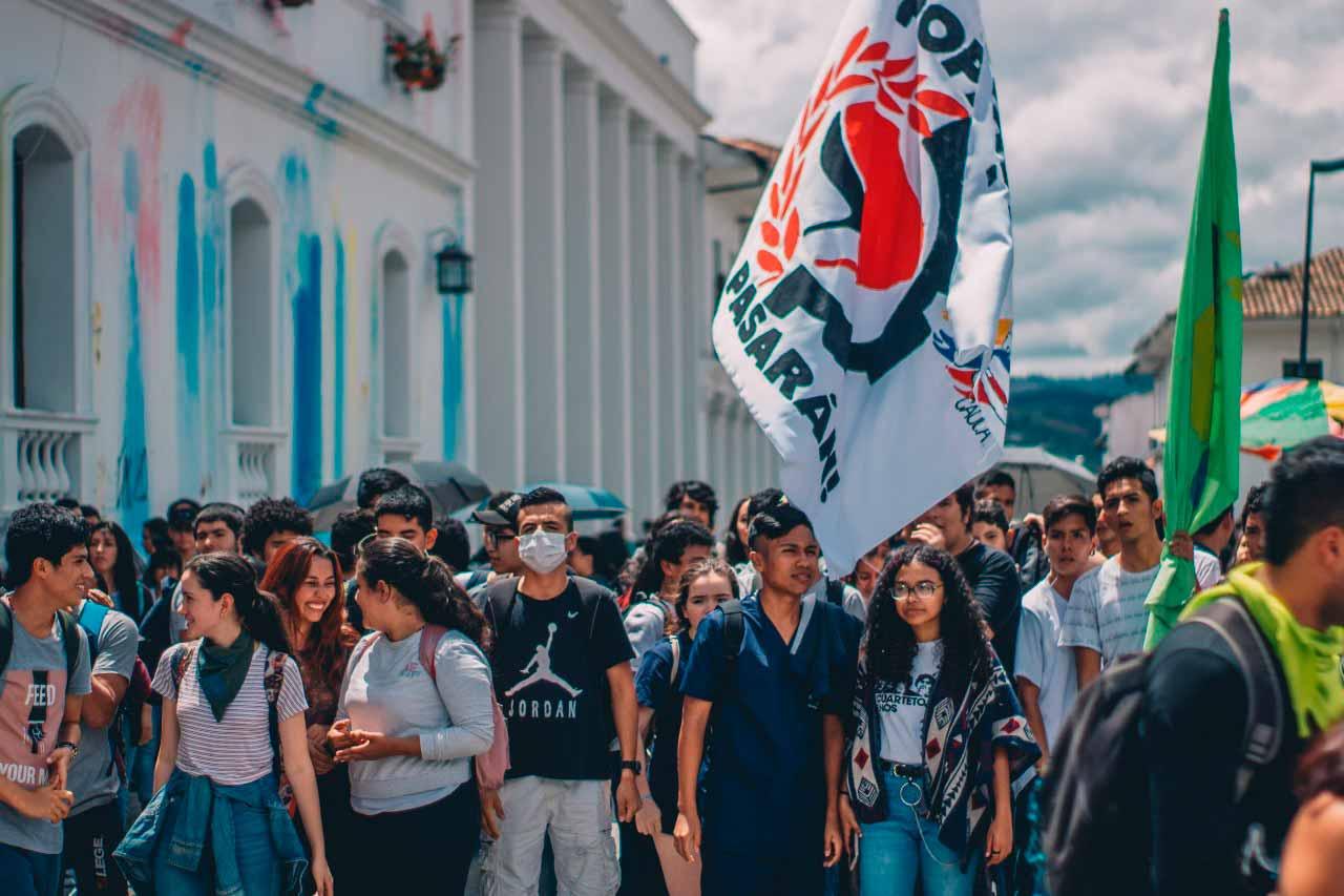 Estudiantes de Popayán continúan en movilización - Agencia de Comunicación de los Pueblos Colombia Informa
